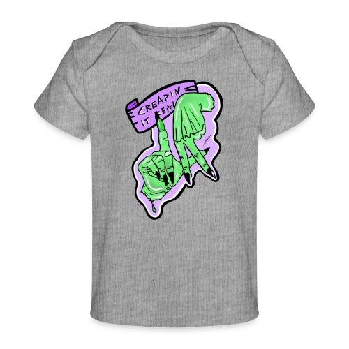 Creapin it real green witch halloween - Ekologiczna koszulka dla niemowląt