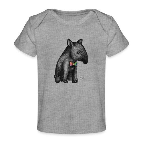 Tapir Baby mit Fliege - Baby Bio-T-Shirt