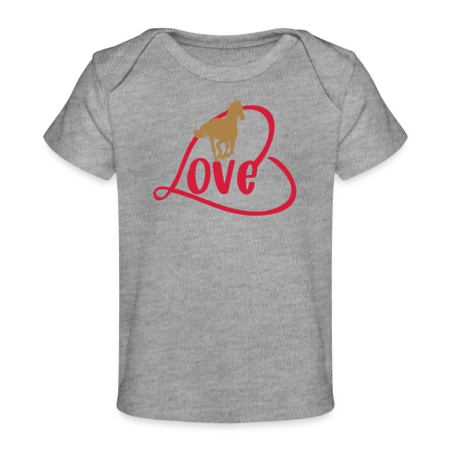 Pferde Liebe - Motiv für Reiter - Baby Bio-T-Shirt