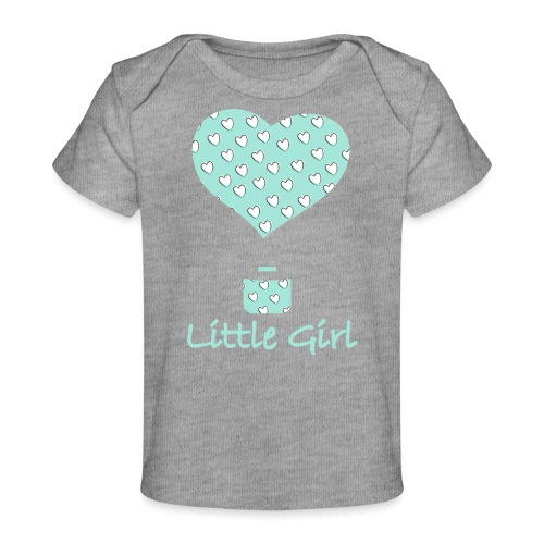 Little Girl in mongolfiera - Maglietta ecologica per neonato