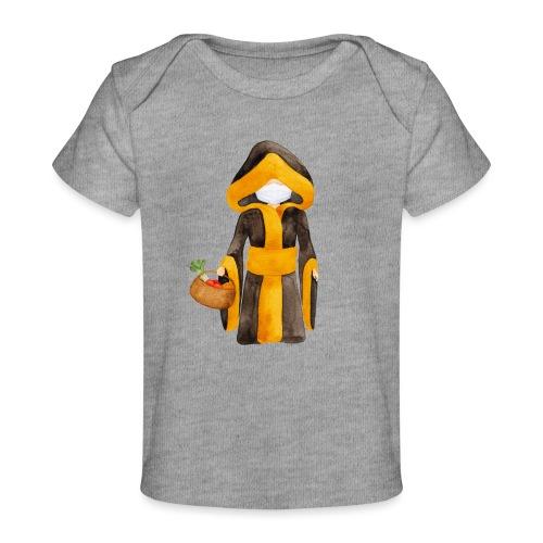 Münchner Kindl mit Maske und Einkaufskorb - Baby Bio-T-Shirt
