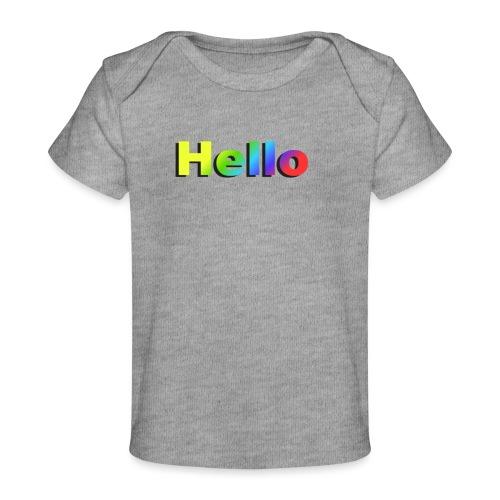 Hello - Ekologiczna koszulka dla niemowląt
