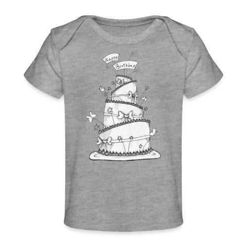 Torta - Maglietta ecologica per neonato