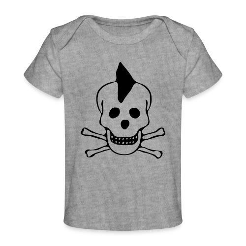 skull totenkopf punk - Baby Bio-T-Shirt