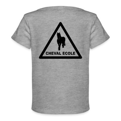 chevalecoletshirt - T-shirt bio Bébé