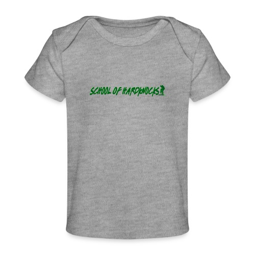 school of hardknocks ver 0 1 green - Økologisk T-shirt til baby