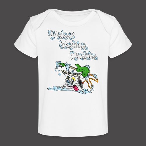 Wicked Washing Machine Cartoon and Logo - Baby bio-T-shirt