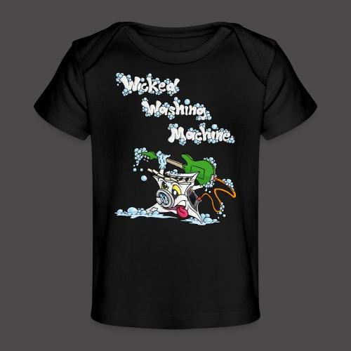 Wicked Washing Machine Cartoon and Logo - Baby bio-T-shirt