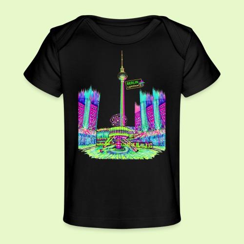 Berlin Alexanderplatz / BerlinLightShow /PopArt - Baby Bio-T-Shirt