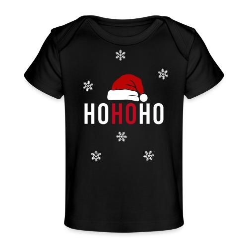 Weihnachtsmann Weihnachten schwanger Baby Geschenk - Baby Bio-T-Shirt