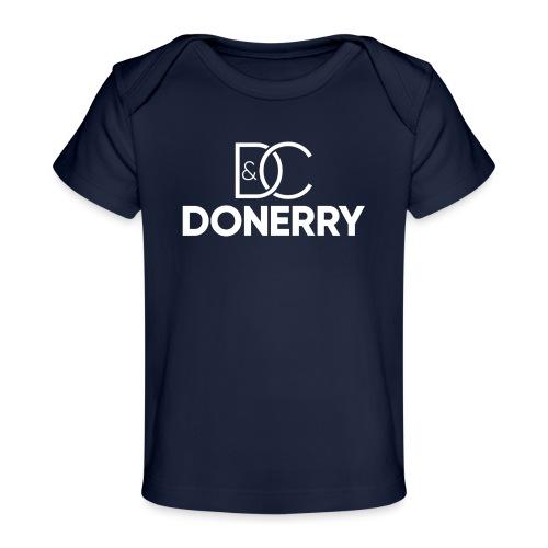DONERRY New White Logo on Dark - Organic Baby T-Shirt