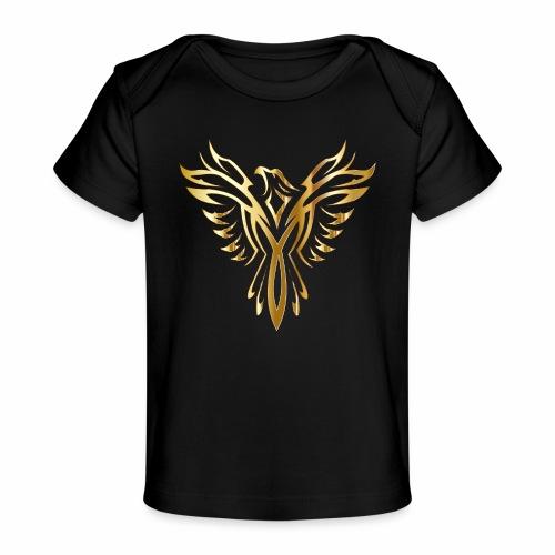 Złoty fenix - Ekologiczna koszulka dla niemowląt