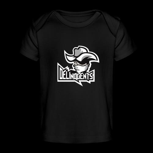 Delinquents Sort Design - Økologisk T-shirt til baby