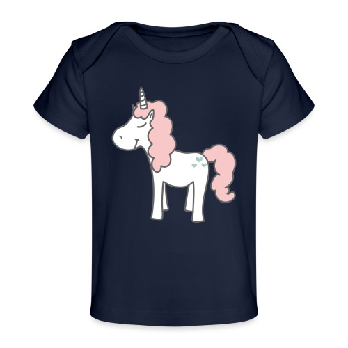 unicorn as we all want them - Økologisk T-shirt til baby