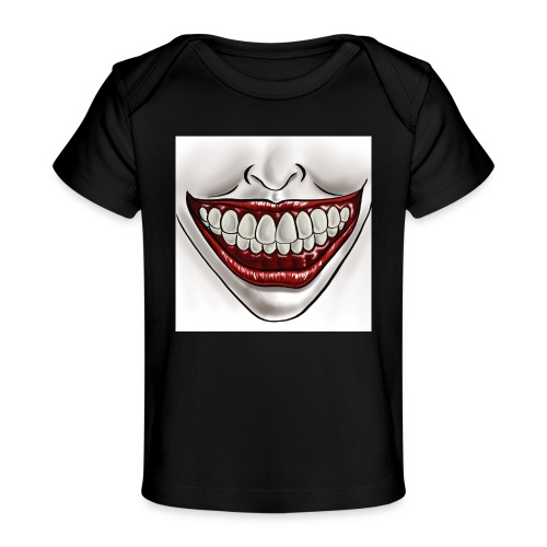 Smile Maske - Baby Bio-T-Shirt