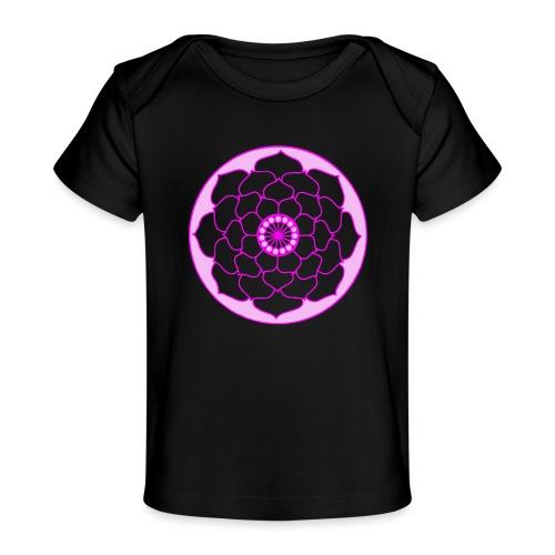 Pink Lotus Flower Mandala - Organic Baby T-Shirt