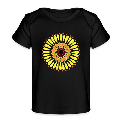 Yellow Sunflower Mandala - Organic Baby T-Shirt