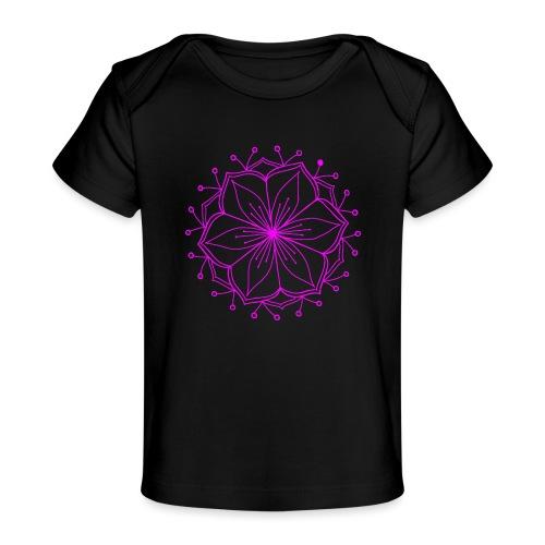 Pink Lotus Mandala - Organic Baby T-Shirt