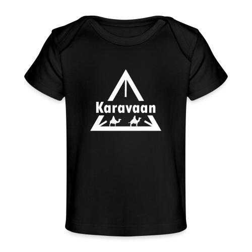 Karavaan White (High Res) - Baby bio-T-shirt