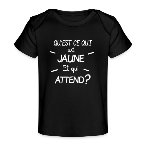 Edition Limitee Jonathan Black - T-shirt bio Bébé