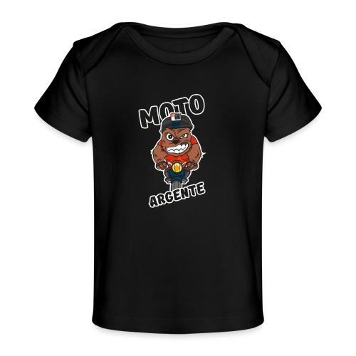moto argente - T-shirt bio Bébé