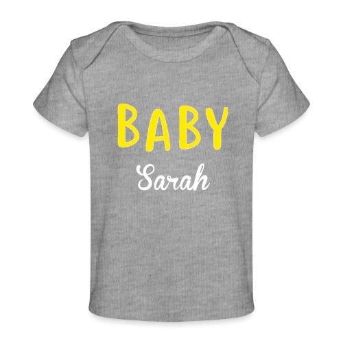 baby sarah black design - Organic Baby T-Shirt