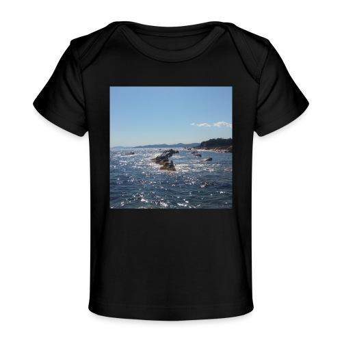 Mer avec roches - T-shirt bio Bébé