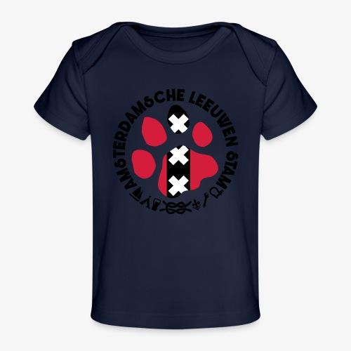 ALS witte cirkel lichtshi - Baby bio-T-shirt