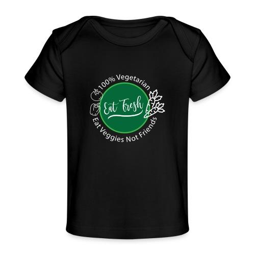 Gezond eten vegetarische t-shirt - Baby bio-T-shirt