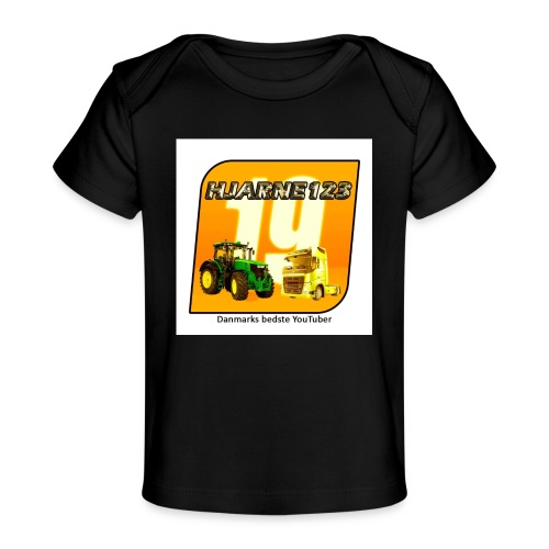 hjarne 123 danmarks bedeste youtuber - Økologisk T-shirt til baby
