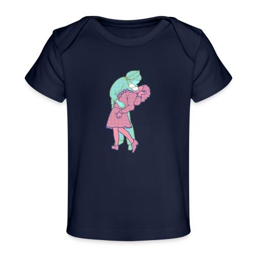 Amor coronavirus - Camiseta orgánica para bebé