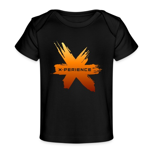 X-Perience Orange Logo - Baby Bio-T-Shirt