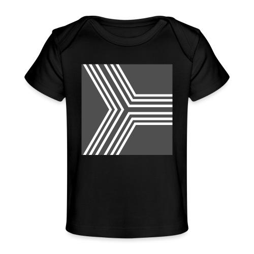 BANDES BLANC/GRIS - T-shirt bio Bébé
