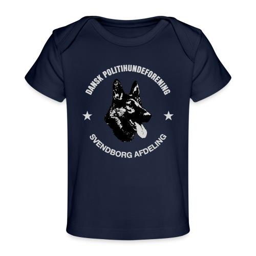 Svendborg PH hvid skrift - Økologisk T-shirt til baby