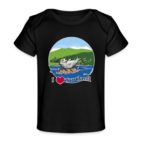 I heart Scotland - Sutherland & Caithness - Organic Baby T-Shirt