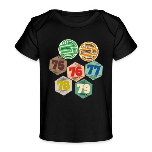 Vignettes automobiles années 70 - T-shirt bio Bébé