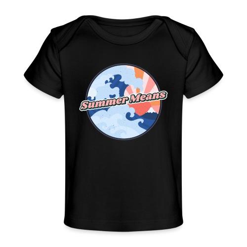 Summer means swimming - Summer, beach, beach sand - T-shirt bio Bébé