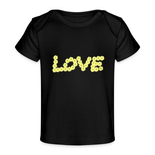 Yellow love flowers - Ekologisk T-shirt baby