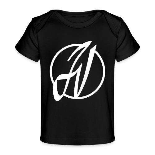 JV Guitars - logo blanc - T-shirt bio Bébé