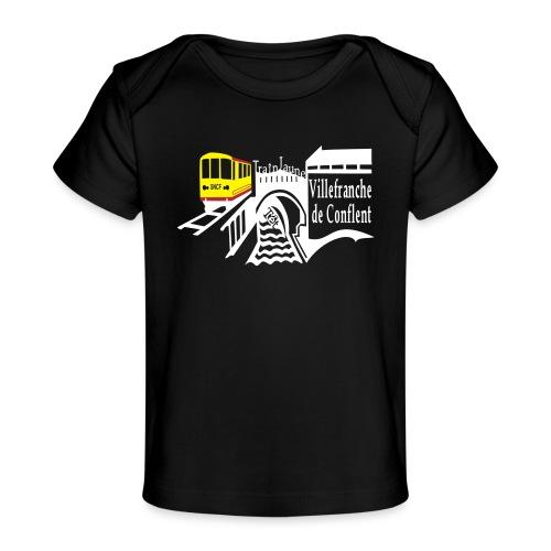 train jaune villefranche de conflent - Baby Bio-T-Shirt