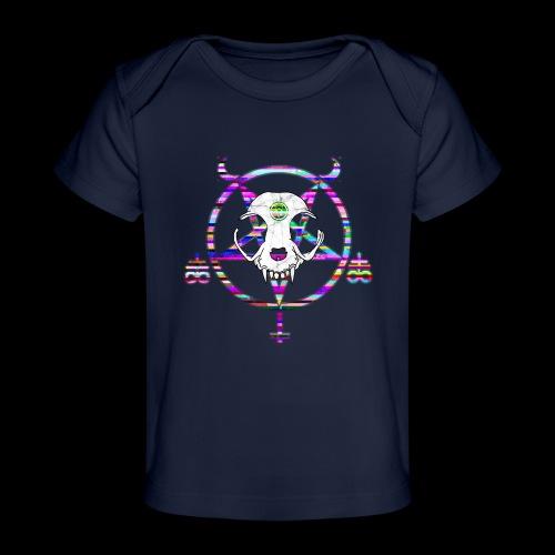glitch cat - T-shirt bio Bébé