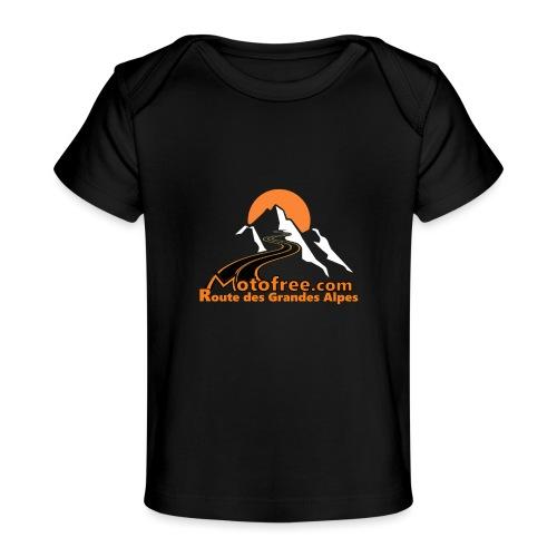 logo motofree orange - T-shirt bio Bébé