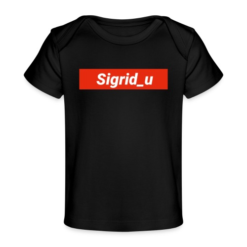 Sigrid_uBoxLogo - Økologisk baby-T-skjorte