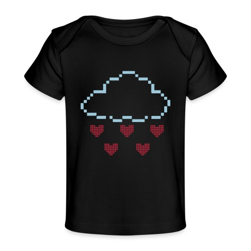 Wolke Pixelherz - Baby Bio-T-Shirt