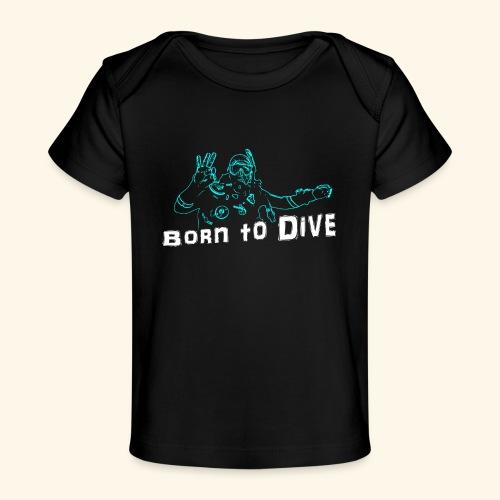 ScubaBornToDive001 - Baby bio-T-shirt