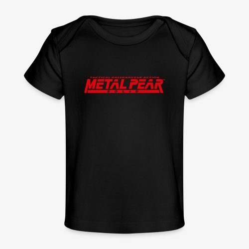 Metal Pear Solid: Tactical Greengrocer Action - Organic Baby T-Shirt