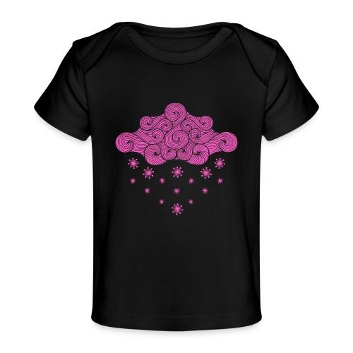 nuage rose et flocons vacances d'hiver - T-shirt bio Bébé
