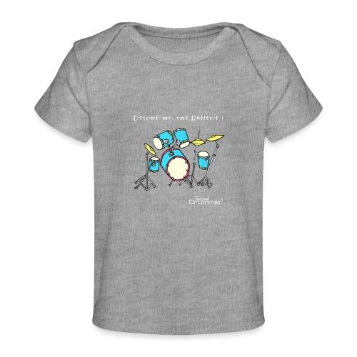 Luigi Drum White - Organic Baby T-Shirt