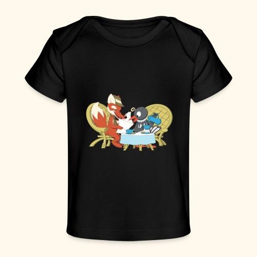 Fuchs und Elster beim Kaffeeklatsch - Baby Bio-T-Shirt