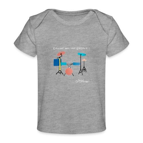Azia Drum White - Organic Baby T-Shirt